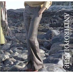 Anthropologie Elevenses Consonant Shimmer Trousers